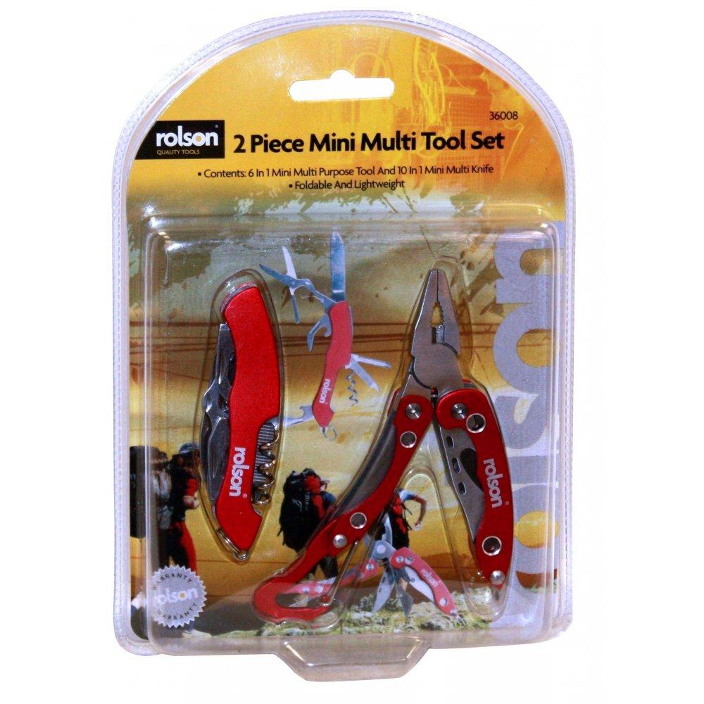 36008 2pc Mini Multi Tool Set-Rolson