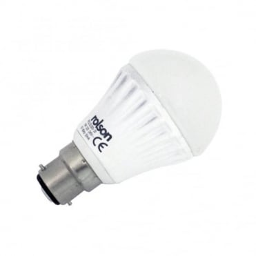 5W GLS LED B22 Beyonet lamp Warm White 3000K