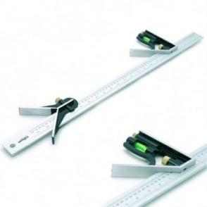 600mm Engineers Combination Try Square Set Right Angle Guide Spirit Level