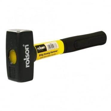 800grm Stoning Hammer Short Rubber Handle Comfort Grip Fibreglass Shaft