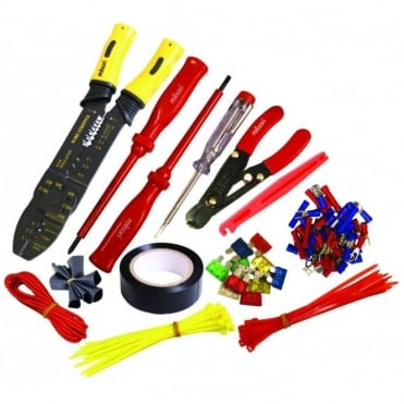 Electrical Repair Tool Kit Set Inc Crimping Tools Wire Cutter Screwdriver & Case