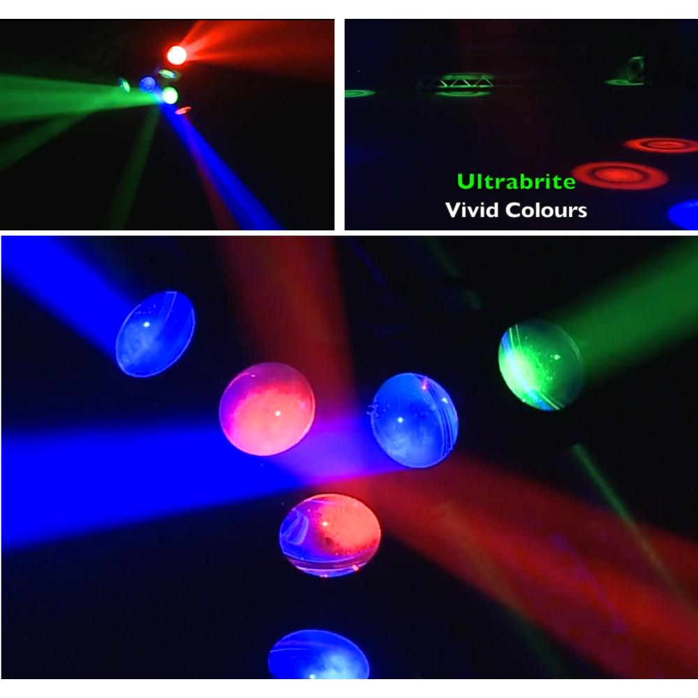 Saturn Hex Beam DJ RGB LED Lighting Effect 18 X 3w LEDs
