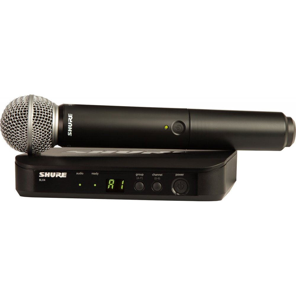 shure blx24 sm58 wireless vocal uhf radio microphone system