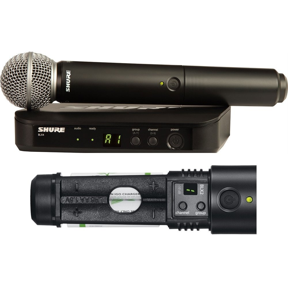 Shure BLX24/SM58 Wireless Vocal UHF Radio Microphone System