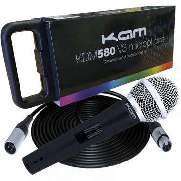 Dynamic Microphone Metal Body XLR Mic DJ Party Vocal Karaoke & 5m Lead