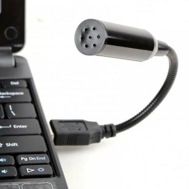 Flexible Mini Desktop Stereo Record Mic USB PC Laptop Notebook Skype Microphone