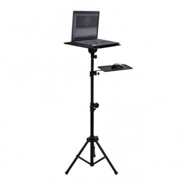 Lightweight Adjustable ( Height & Tilt ) Tripod Laptop Stand with Mouse Shelf