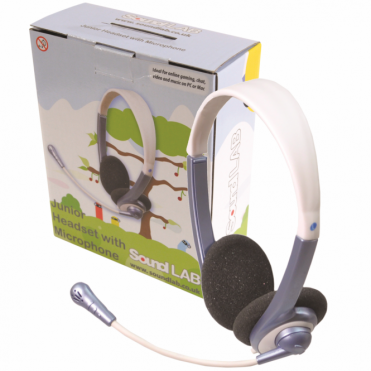 Lightweight Junior Headphones With Microphone ages 5+ Extra Soft Earpads