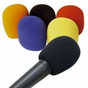 Set of 5 Coloured Foam Windshields for Hand Held Microphones 35-50mm