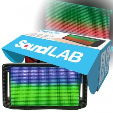 Small Bluetooth Speaker with LED Flashing Lights, Party Disco Effects - Portable