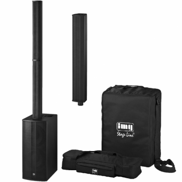C-RAY/8 Active Column PA Speaker System DSP Inc Bags and Extension Bar