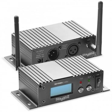 DJ SLi-SKYDMX2.4 AIr Wireless WiFi Reciever D-Fi DMX Transmitter Control Hub Pack