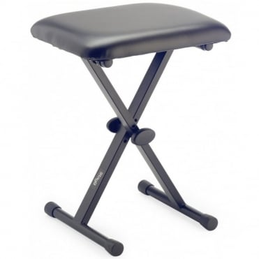 KEB-A10 X-Style Adjustable Keyboard Stool Bench Padded Seat Black