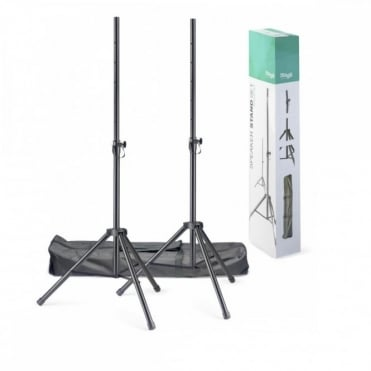 SPSQ10 Speaker Stand Set - High Quality Tripod Kit inc Bag DJ Disco PA