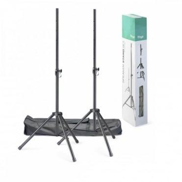 SPSQ10 Speaker Stand Set - High Quality Tripod Kit inc Bag DJ Disco PA