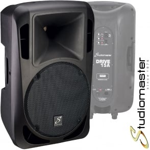 Studiomaster Drive 15A 1200W Active Powered Full Range PA Speaker