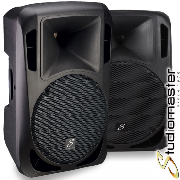 Pair of Drive 15A 1200W Active Powered Full Range PA Speakers