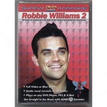 Karaoke DVD Robbie Williams 2 - Full Video / Blue Options - All Region