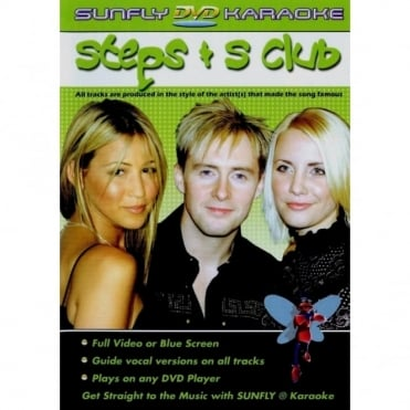 Karaoke DVD Steps S Club - Full Video / Blue Options - All Region