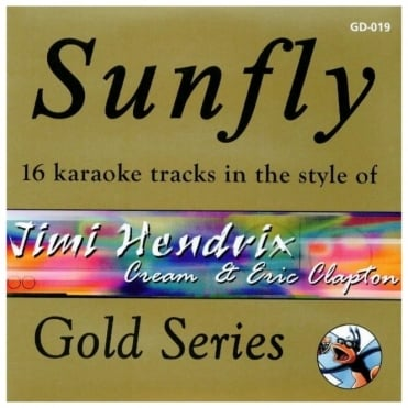Karaoke Gold CDG CD - Jimi Hendrix, Cream & Eric Clapton CD+G Disc