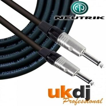 "1/4"" Neutrik Jack 6.35mm To 1/4"" Jack Passive Speaker Cable PA 1m 6m 10m 15m 20m"