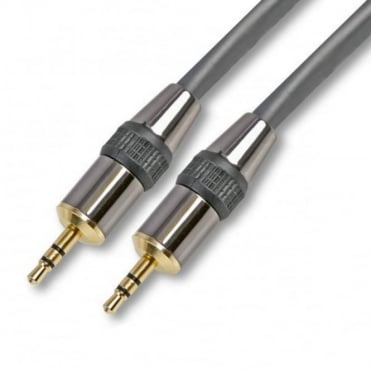 1.5 to 10M 3.5mm Jack Cable Aux Gold Shielded Audio Lead Silver