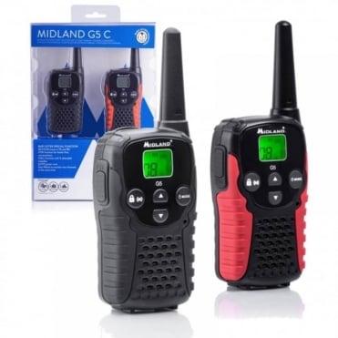 12Km Midland G5 C Walkie Talkie 2 Two Way VOX Radio PMR 446 Licence Free