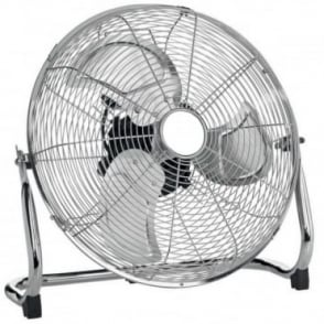 "14"" Chrome High Velocity Industrial 3 Speed Free Standing Large Fan"