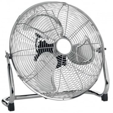 "18"" Chrome High Velocity Industrial 3 Speed Floor Fan"