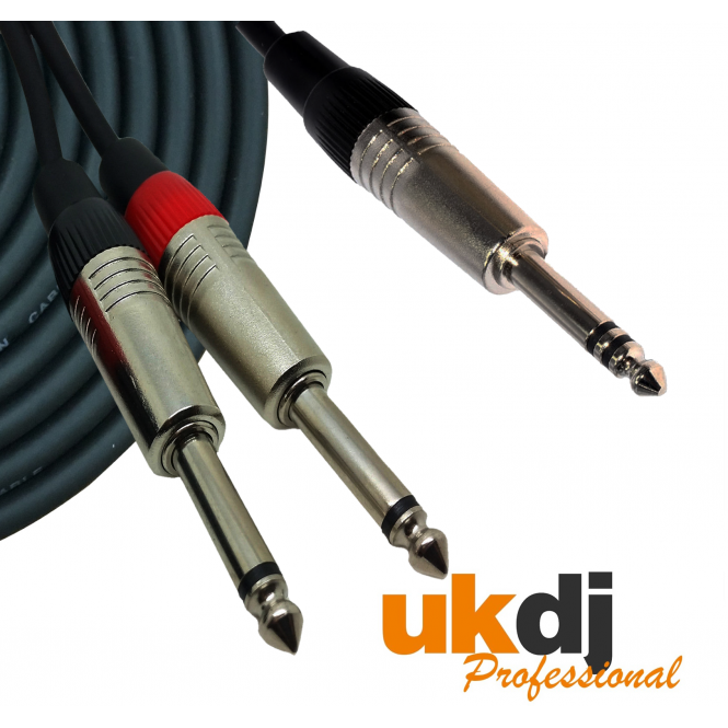 3m 6 35mm Jack Stereo To 2 X 1 4 Inch Jack Mono Cable