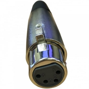 4 Pin XLR Female Socket with Solder Terminals & Cable Protector