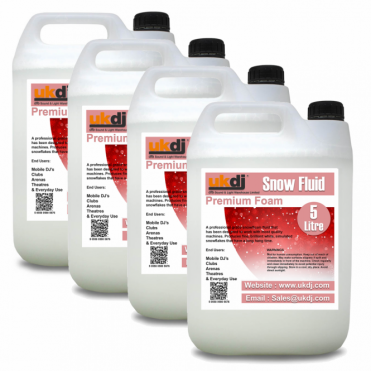 4 x 5L UK Manufactured Snow Fluid For Artificial Snowflake Effect Machines