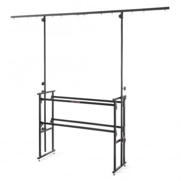 4ft DJ Deck Disco Stand Table Rig inc Lighting Bar & Fixings