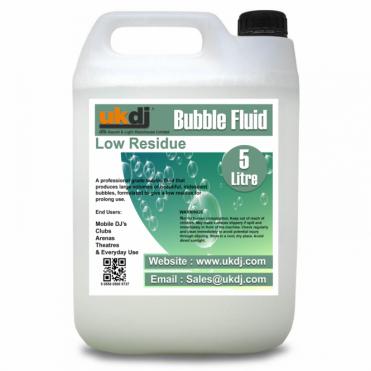 5L Bubble Machine Fluid Professional DJ Disco Stage 5 Litre - Low Residue