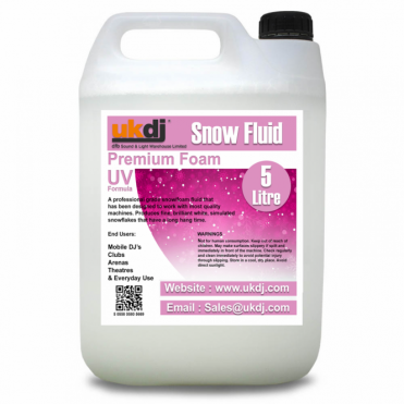 5L Snow Fluid For Artificial Snowflake Effect Machines UV Formula