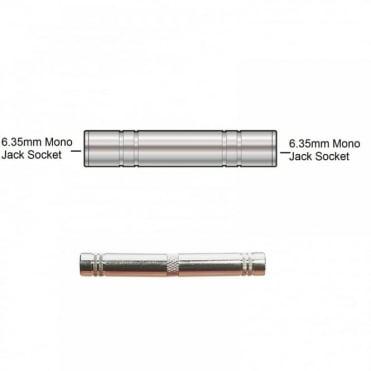 6.35mm Mono Jack Socket to 6.35mm Mono Jack Socket Adaptor