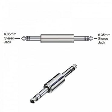 6.35mm Stereo Jack Plug to 6.35mm Stereo Jack Plug Coupler Adaptor