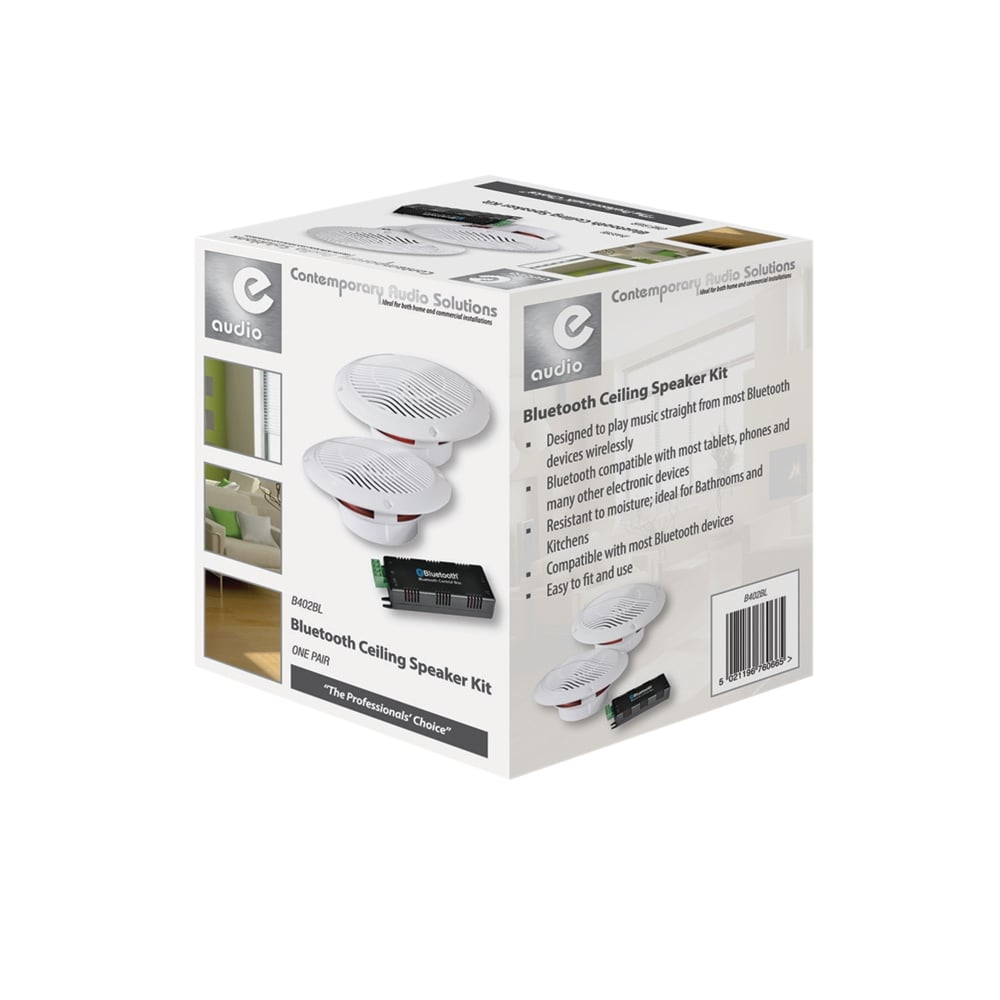 80w Wireless Bluetooth Home Bathroom Moisture Resistant Ceiling Speaker Kit