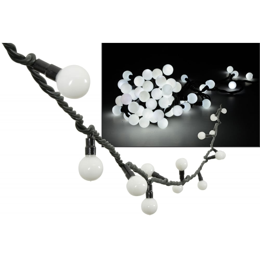 Led String Lights Round : 9M 50 LED 25mm Round Garden Patio Gazebo String Ball Lights Outdoor IP