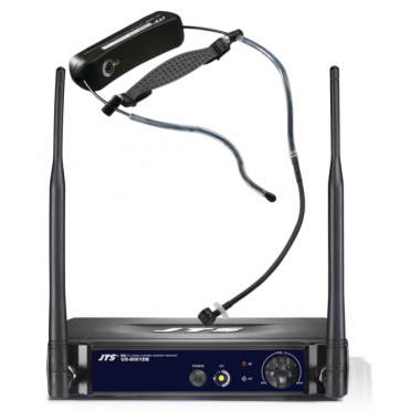 Aerobics Headset UHF Radio Mic System - Wireless Built-in Trasmitter - US-8001DB / UT-16HW