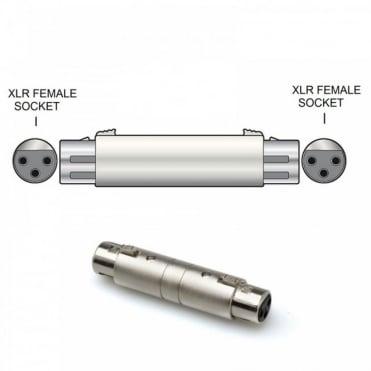All Metal 3 Pin XLR Coupler Female Socket to Female Socket Adaptor