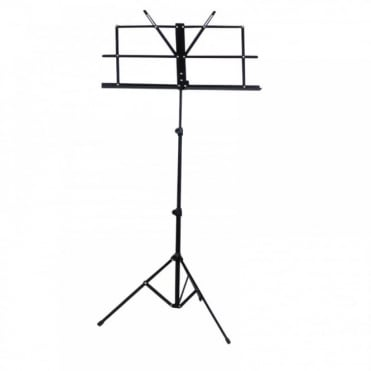 Black Metal Adjustable Sheet Music Stand Holder Folding Foldable