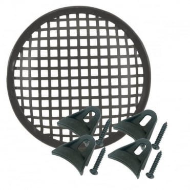 Black Metal Mesh Speaker Grilles 5 6.5 8 10 12 15 & 18 Inch Inc Clamps & Screws