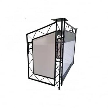 Black Opti CS150 Control Station Aluminium DJ Booth Integral Podiums