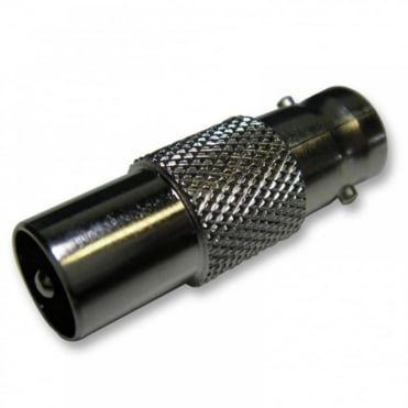 BNC Female Socket To TV Coax Male Aerial Plug Adapter Converter