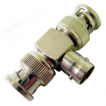 BNC Female Socket To Two Male Plugs Aerial Plug T Adapter Converter