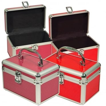 Compact Aluminium Case Red & Pink Versions - Cosmetics, Keepsakes, Lunch Box