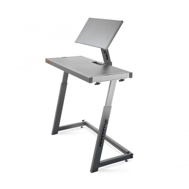 DJ Booth Workstation 2 Floor Laptop Stand & Table Desk