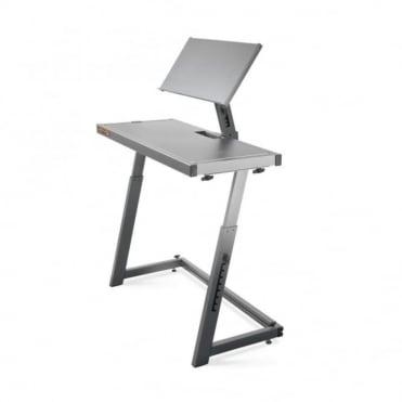 DJ Booth Workstation 2 Floor Laptop Stand & Table Desk Adjustable