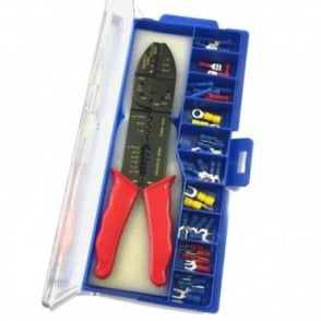 Electricians Crimping Tool & Wire Stripper Kit Crimper Terminal Set